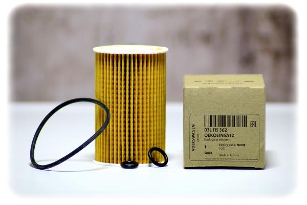 Original VW / Audi Filtereinsatz mit Dichtung - Oelfilter - 03L 115 562