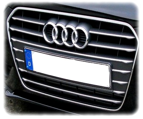 Original Audi A4 Zierleisten für den Kühlergrill (Chromeoptik) - 8K0071360A 2ZZ
