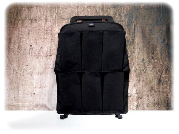 Original Audi Rückenlehnenschutz mit 6 Taschen - Sitztaschen - 4L0061609A