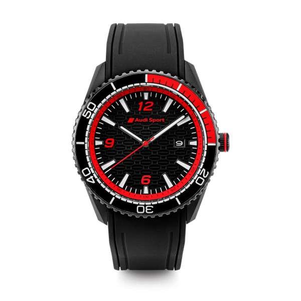 Audi Sport - Audi Sport Uhr, Herren, schwarz/rot