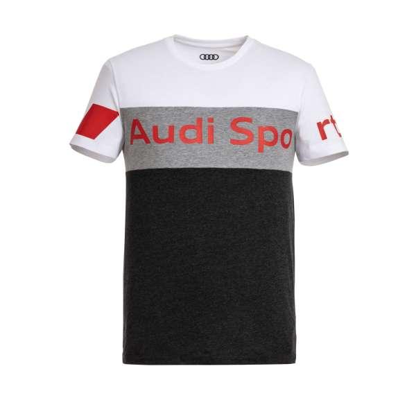 Audi Sport - Audi Sport Shirt, Herren, grau/weiß 2XL