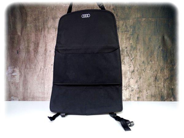 Original Audi Rückenlehnenschutz mit 4 Taschen - Sitztaschen - 4M0061609