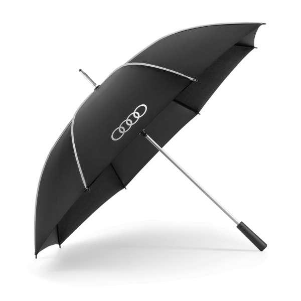 Audi Sport - Audi Stockschirm, schwarz/silber, groß