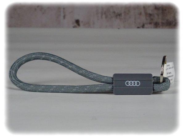 Original Audi Sport Kordel (Grau) - Schlüsselanhänger - 3181800600